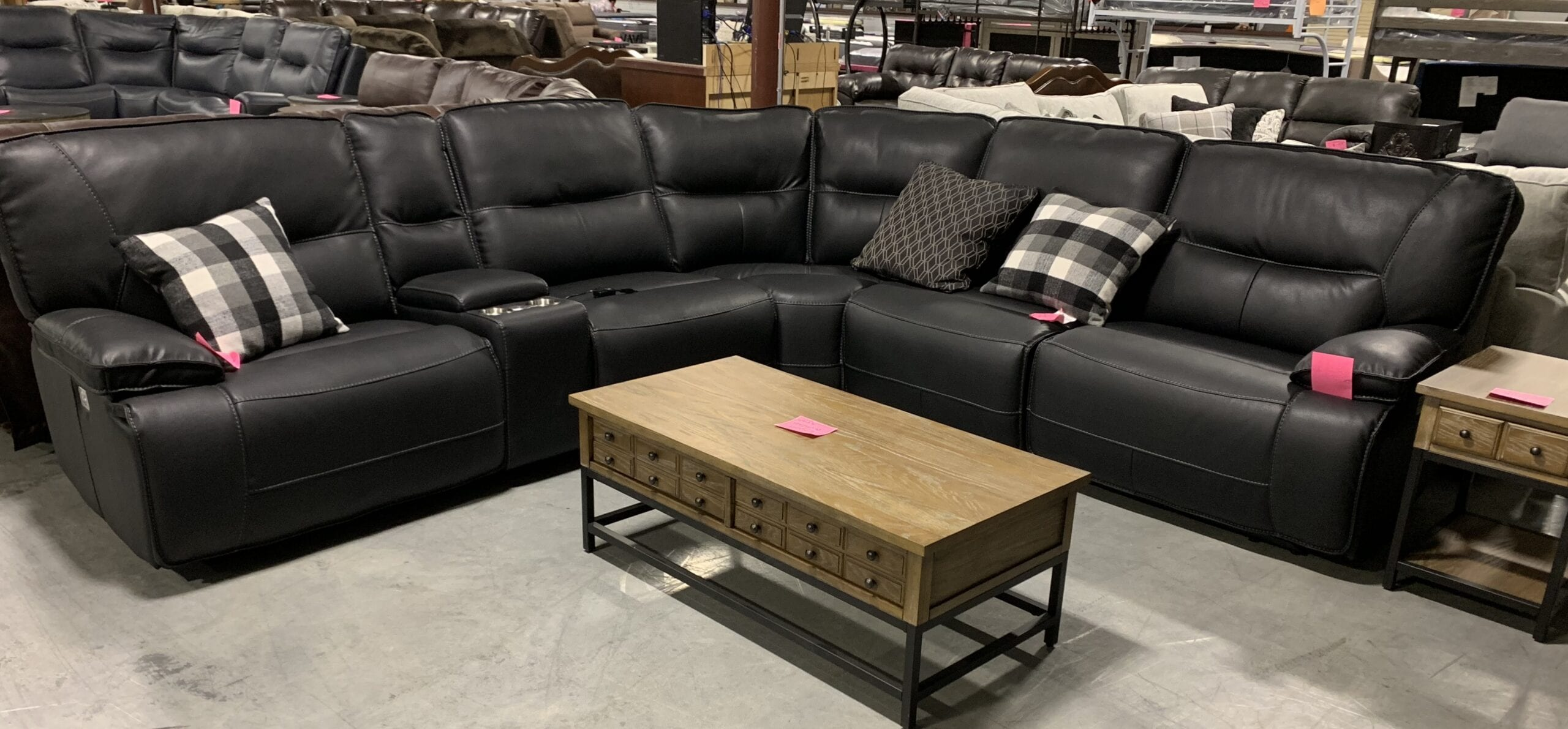 a power reclining sectional by Parker House