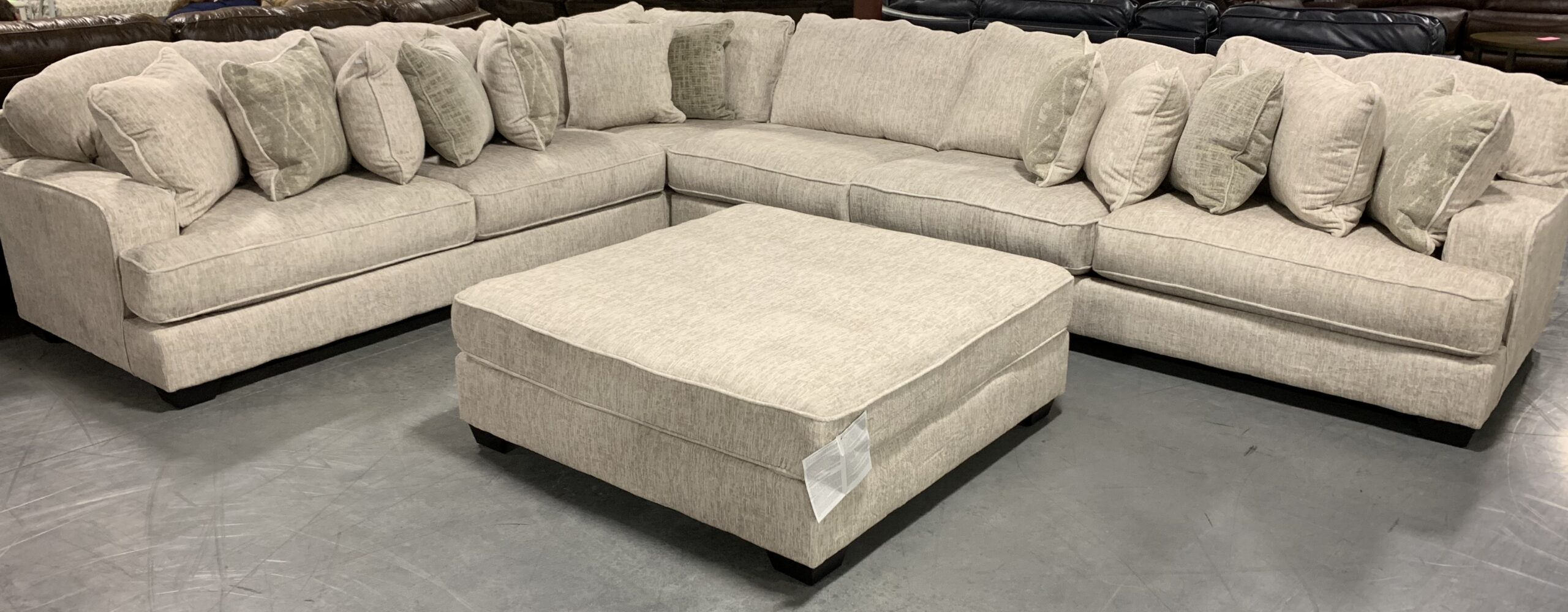 a large sectional by Ashley